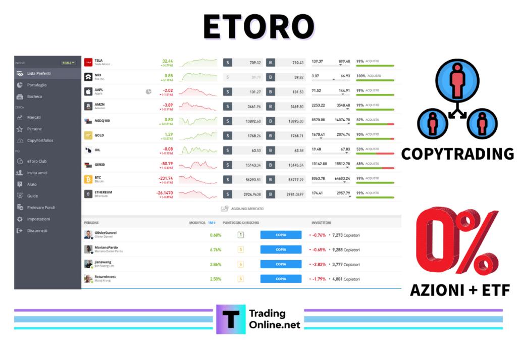 eToro - scheda riassuntiva di TradingOnline.net