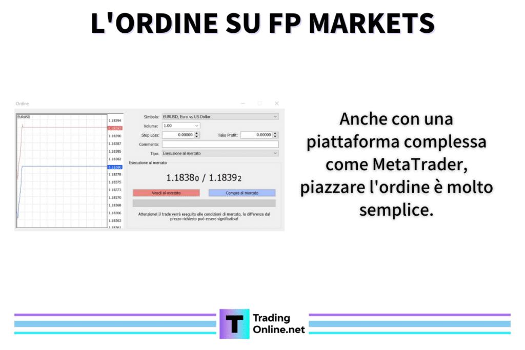 MetaTrader - Fp Markets ordine - di TradingOnline.net